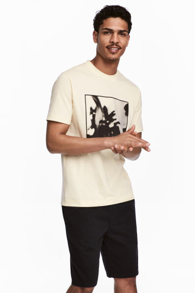 Printed T-shirt - Light yellow -  | H&M