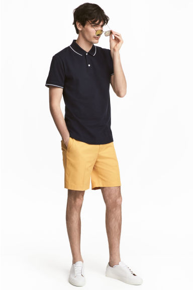 Premium cotton city shorts - Mustard yellow -  | H&M