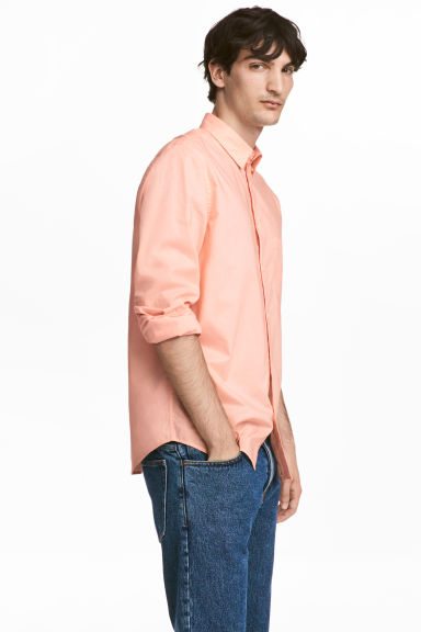 Camisa de algodón Regular fit - Albaricoque -  | H&M ES