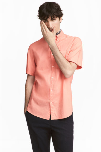 Cotton shirt Regular Fit - Apricot - Men | H&M