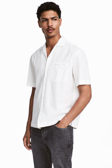 Resort shirt Relaxed fit - White - Men | H&M GB