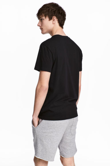 T-shirt à encolure ronde - Noir -  | H&M BE