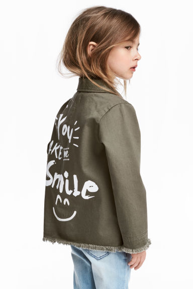 Utility jacket - Khaki green - Kids | H&M CN