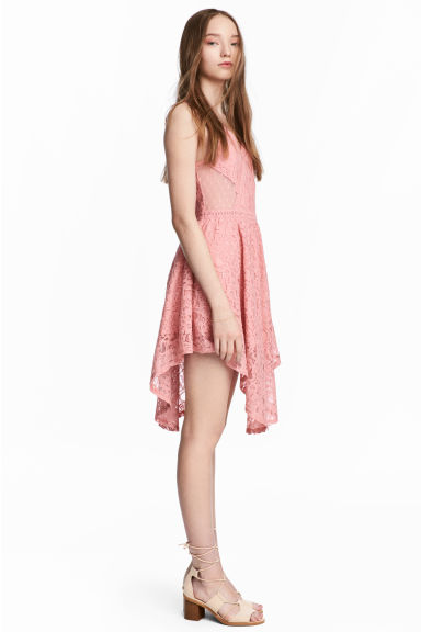 Lace dress - Coral pink -  | H&M