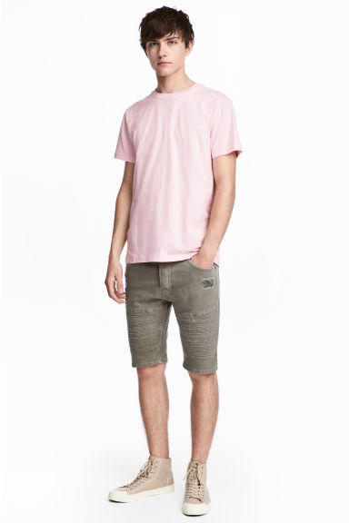 Biker shorts - Khaki green - Men | H&M