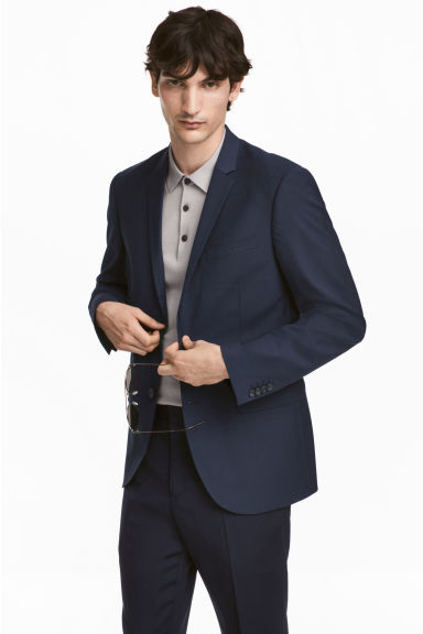 Jacket Slim fit - Dark blue - Men | H&M