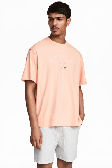 T-shirt with a text print - Apricot -  | H&M IE