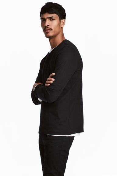 亨利式上衣 - Black - Men | H&M