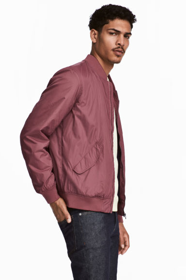 Nylon bomber jacket - Old rose -  | H&M