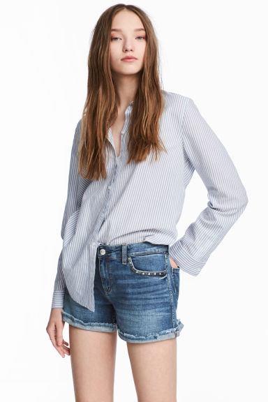 Denim shorts - Denim blue - Ladies | H&M CN