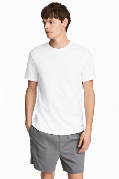 Cotton T-shirt Regular fit - White - Men | H&M