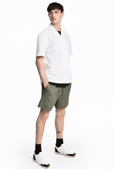 Cotton shorts - Khaki green -  | H&M