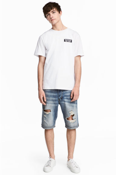 Denim shorts Trashed - Denim blue - Men | H&M