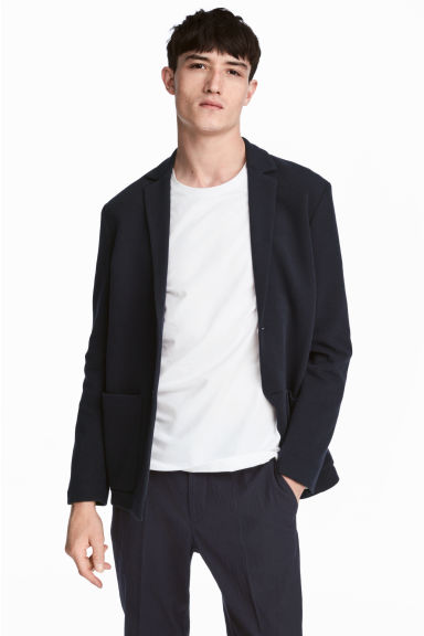 Jersey blazer - Slim fit - Donkerblauw - HEREN | H&M BE