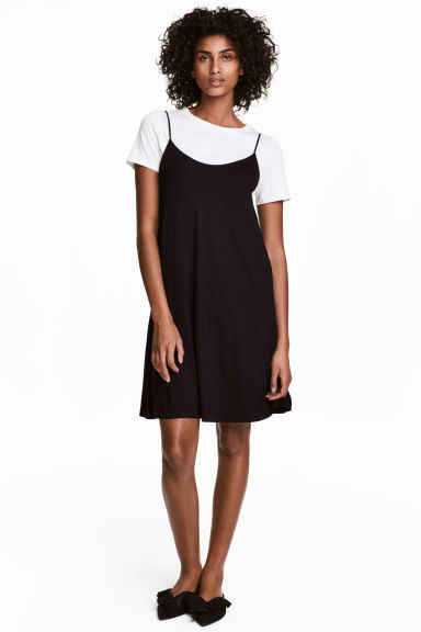 Slip dress - Black -  | H&M GB