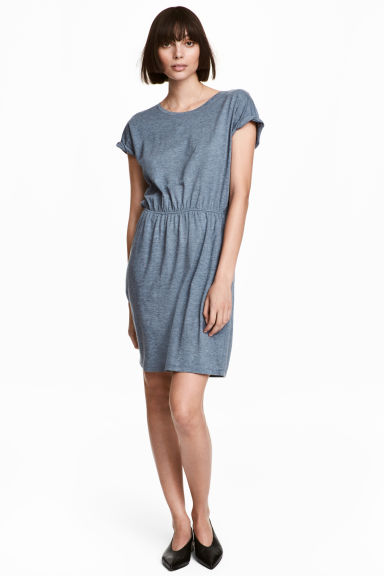 Jersey dress - Grey-blue marl - Ladies | H&M