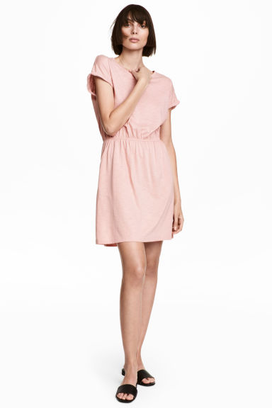 Jersey dress - Powder pink marl -  | H&M IE