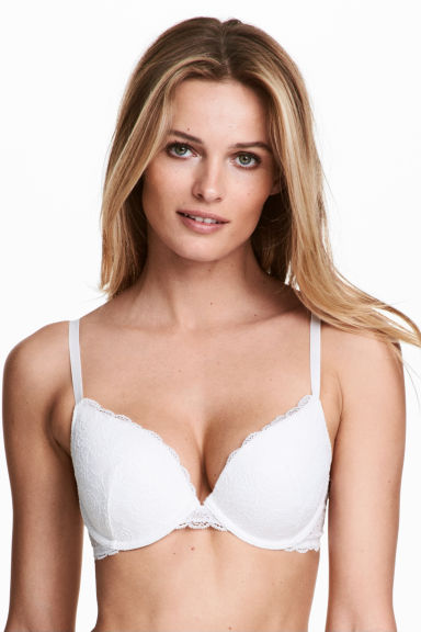 Lace push-up bra - White -  | H&M IE