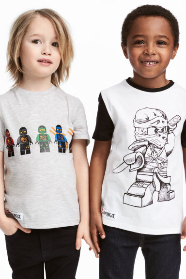 2-pack T-shirts - White/Lego -  | H&M