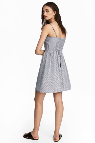 Short dress - White/Black patterned -  | H&M