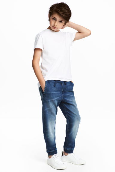 Super Soft denim joggers - Denim blue - Kids | H&M CN