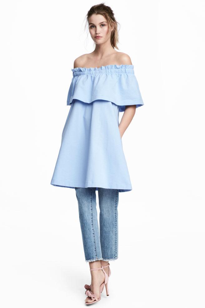 a2201de5a6d6 Off-the-shoulder dress - Light blue - Ladies