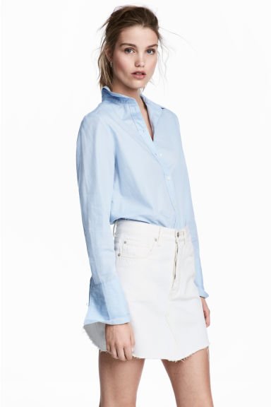 Denim rok - Wit denim -  | H&M NL