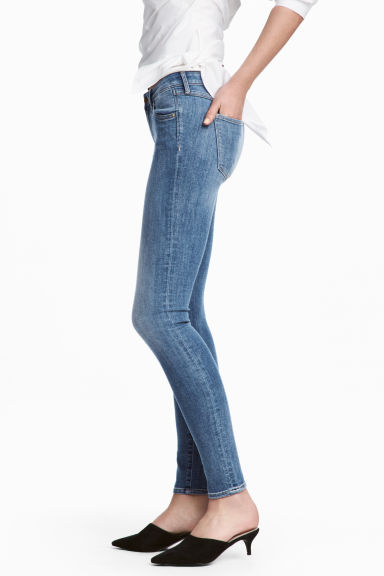 Super Skinny Low Jeans - Denim blue/Washed - Ladies | H&M
