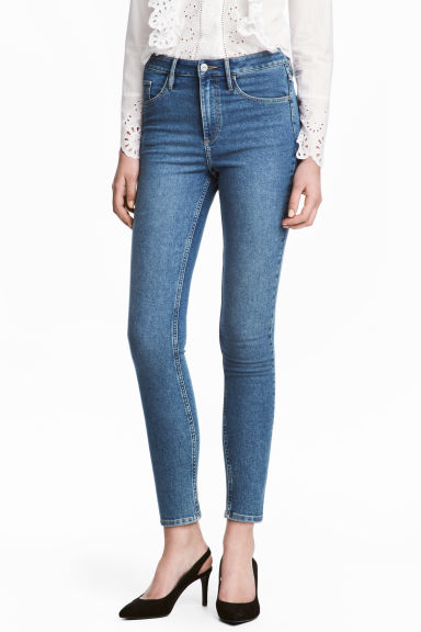 Skinny High Ankle Jeans - Denimblauw - DAMES | H&M NL