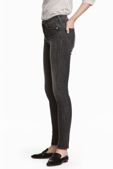 Skinny Regular Jeans - Black denim -  | H&M GB