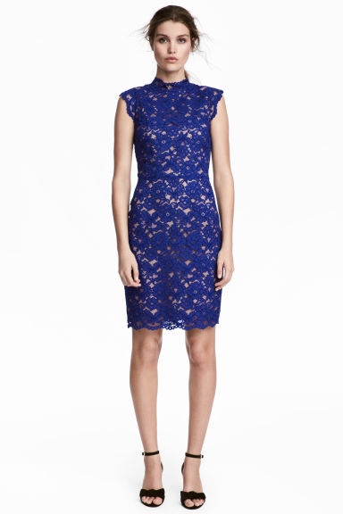Lace dress - Cornflower blue -  | H&M