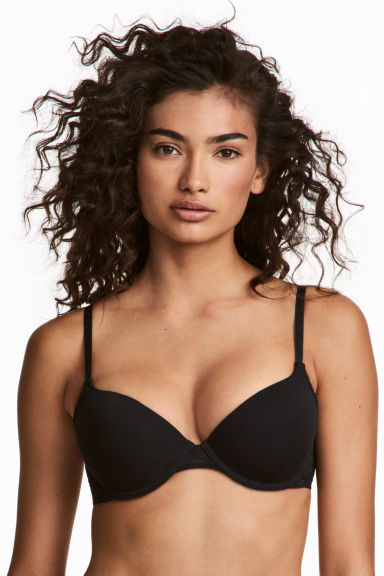 2-pack padded cotton bras - Black/White - Ladies | H&M IE