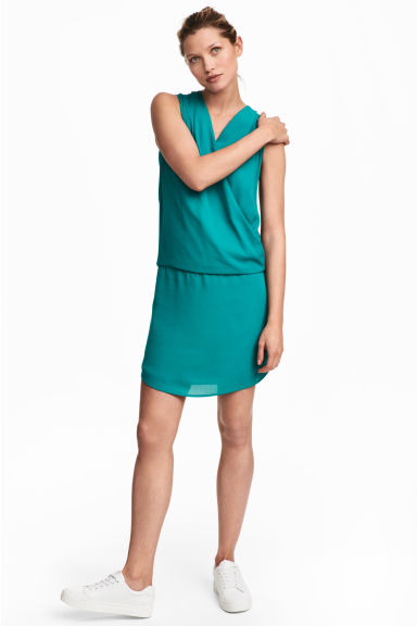 MAMA Nursing dress - Turquoise -  | H&M IE