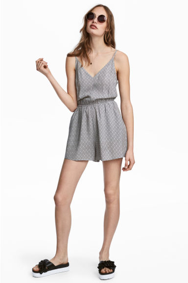 Playsuit - White/Patterned -  | H&M