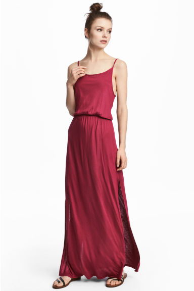 Maxi dress - Raspberry red -  | H&M CN