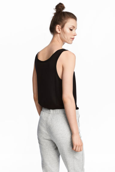 Wide vest top - Black -  | H&M CN