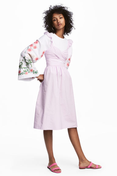 Cotton dress - Light pink - Ladies | H&M CN