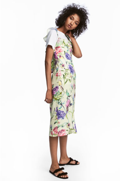 Frilled dress - Light yellow/Floral - Ladies | H&M