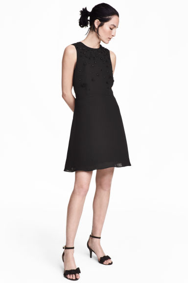 Abito con perline - Nero -  | H&M IT