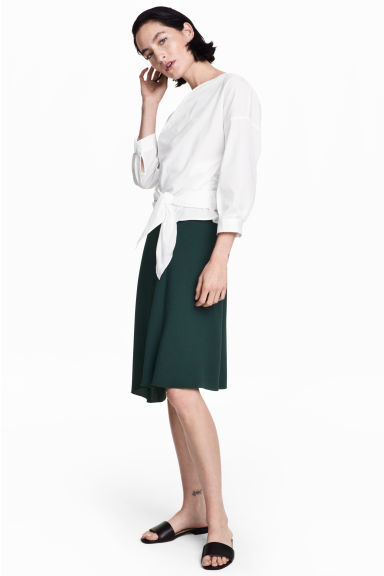 Asymmetric skirt - Dark petrol -  | H&M