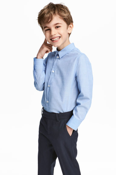 Easy-iron shirt - Light blue marl - Kids | H&M CN