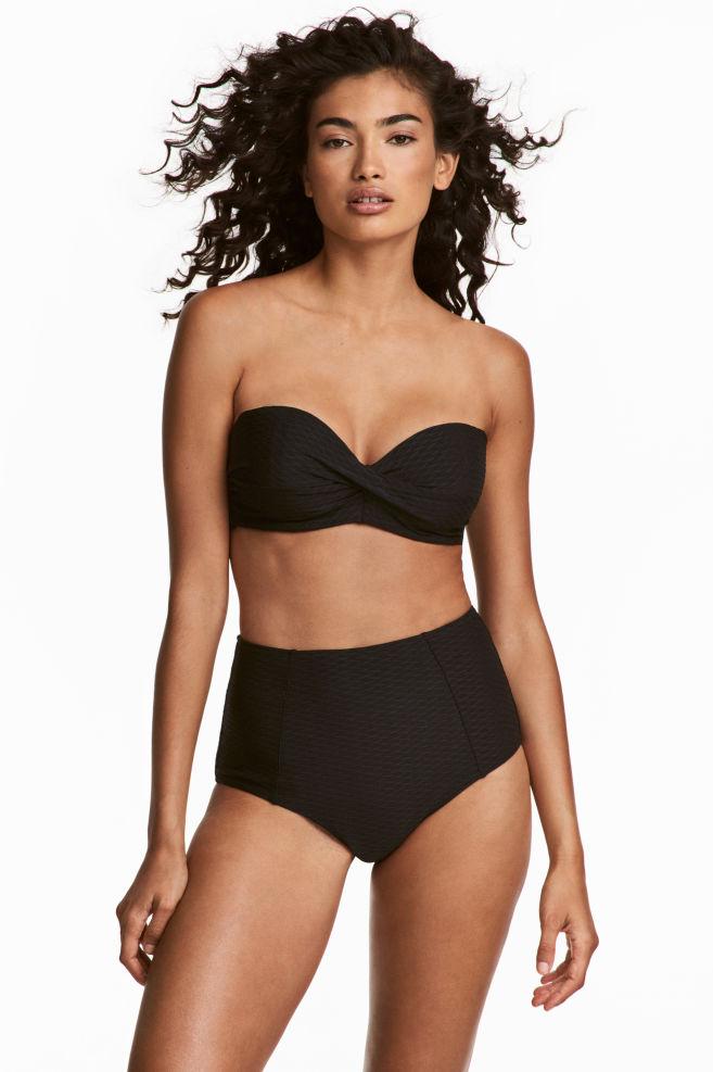 5ad8d2f4447c Slip bikini a vita alta - Nero - DONNA | H&M ...