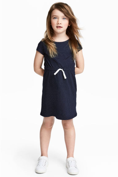 Jersey dress - Dark blue - Kids | H&M CN