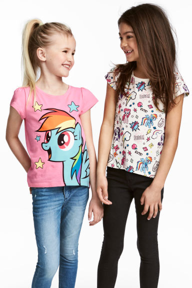 Set van 2 tricot tops - Wit/My Little Pony -  | H&M NL