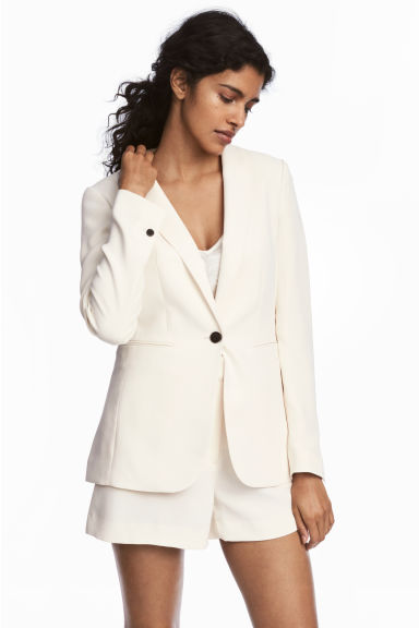 Fitted jacket - Natural white - Ladies | H&M