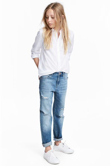 Relaxed Worn Jeans - Denim blue -  | H&M CN