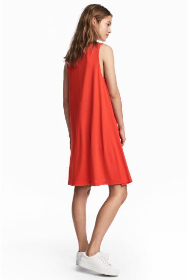 V-neck jersey dress - Red -  | H&M