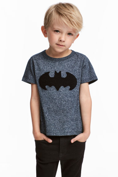 T-shirt avec impression - Bleu/Batman -  | H&M BE