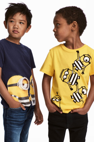 Set van 2 T-shirts - Geel/Minions -  | H&M BE
