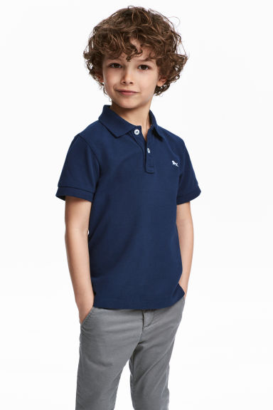 Polo shirt - Dark blue - Kids | H&M IE